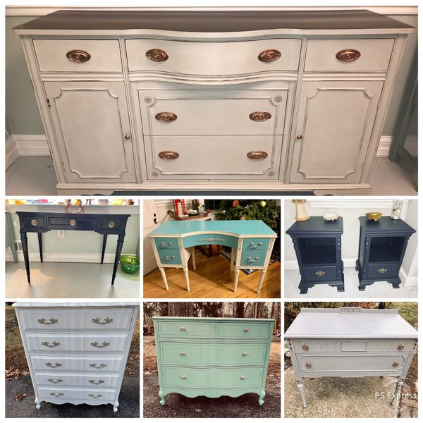 Upcycled furniture and fun vintage home decor
