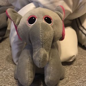 Super Cute And Soft Gray & Pink Elephant Stuffed Toy 6in Tall for Sale in Elma, WA