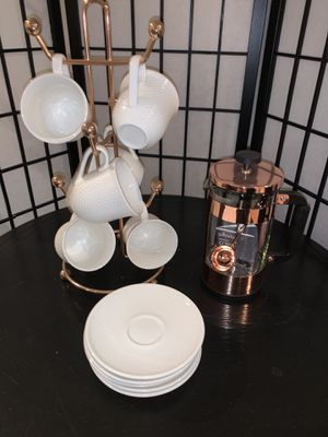 Rose Gold French Press & Coffee Set for Sale in Las Vegas, NV