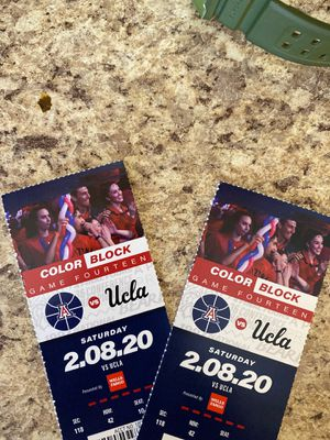 U of A Basketball Vs UCLA for Sale in Tucson, AZ