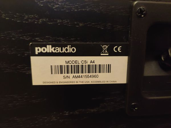 Polk Audio CSi A4 Center Speaker (goes with RTi or Monitor Series)