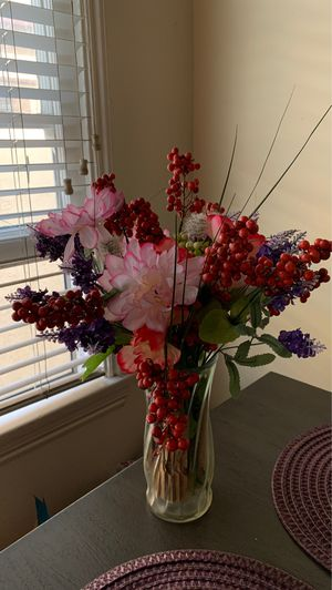 Artificial Flowers with vase for Sale in Long Beach, CA