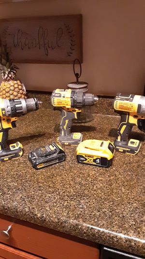 3 -- dewalt drills/drivers... 20v xr lithium, 20v max lithium for Sale in Mesa, AZ