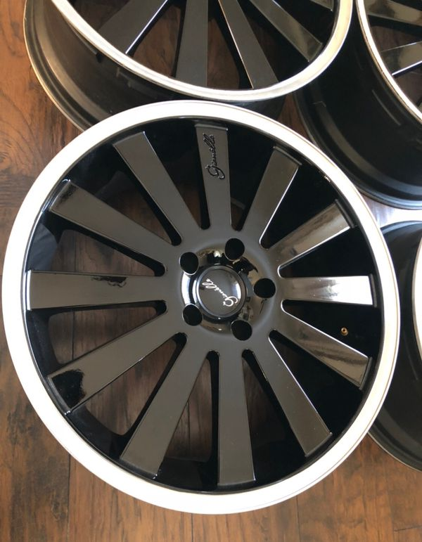22 inch gienelle wheels polished lip