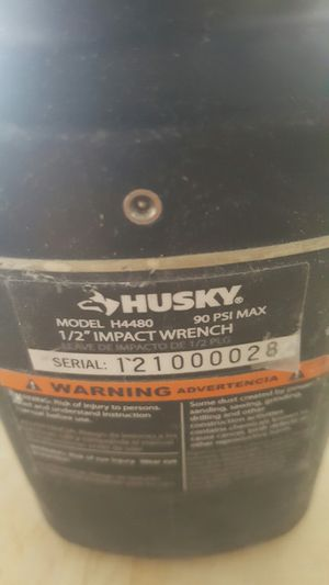 Husky 1/2 in. 800 ft. lbs. Impact Wrench for Sale in Las Vegas, NV