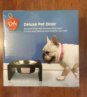 Deluxe Stainless Steel Raised Pet Bowl, NEW, Never Opened(pick up only) for Sale in Alexandria, VA