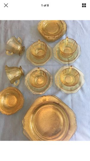 Antique Federal Madrid Depression Glass 22 pc for Sale in Wake Forest, NC