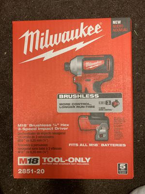 {price is FIRM} New, Sealed Milwaukee M18 Brushless Hex 3-Speed Impact Driver [Tool-Only] for Sale in Abingdon, MD