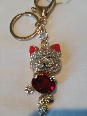 Adorable LUCKY CAT with Crystals Keychain for Sale in The Bronx, NY
