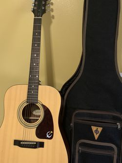 Rated Epiphone Acoustic Guitar Natural for Sale in Norwalk,  CA