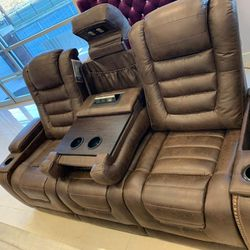 On Display And Instock Reclining Sofa And Loveseat Set From An Actual Store, Ashley Brand, for Sale in Laurel,  MD