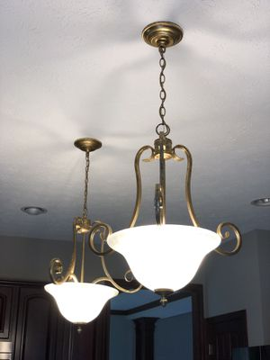 3-light antique bronze pendants for Sale in North Royalton, OH