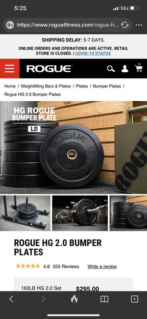 Rogue HG 2.0 Bumpers for Sale in Yucaipa, CA