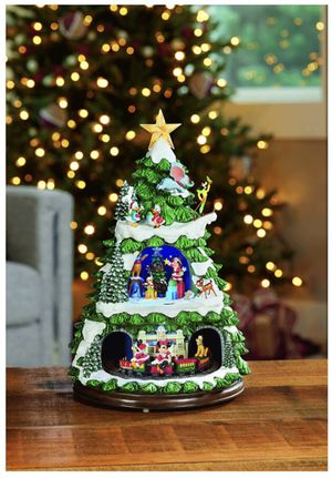 "Disney Animated 17"" Christmas Tree with 8 Holiday Songs Lights Mickey & Friends for Sale in Lake Forest, CA"