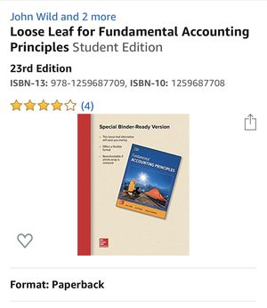 Fundamentals of Accounting 23rd looseleaf for Sale in Torrance, CA