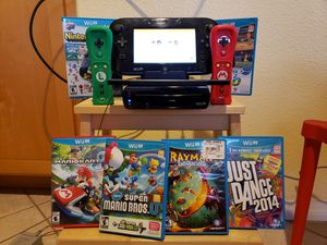 Nintendo Wii U console with two controllers and 6 games for Sale in San Diego, CA