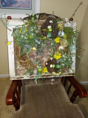Window with wreath for Sale in Carmi, IL