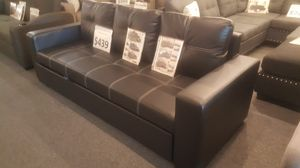 "Brand new 84"" x 57"" black leather pullout futon for Sale in San Diego, CA"