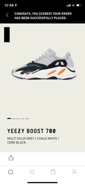 YEEZY BOOST 700 WAVE RUNNER size 9 solid grey chalk white core black adidas for Sale in San Gabriel, CA