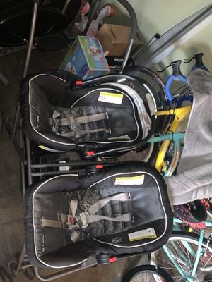 TWIN ROO INFANT STROLLER & CARSEATS for Sale in San Lorenzo, CA