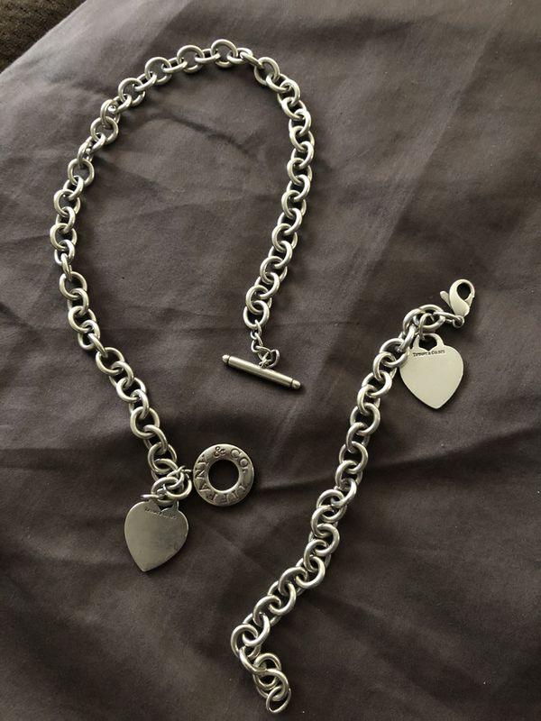 Tiffany & Co. choker necklace and matching bracelet