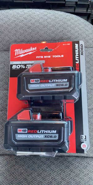 Milwaukee M18 xc6.0 High Demand Battery 2 Pack for Sale in Danbury, CT