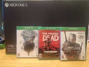 Xbox one X Sealed. 3 New Games. 1TB for Sale in Arlington Heights, IL