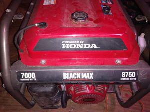 Black Max Honda generator for Sale in Houston, TX