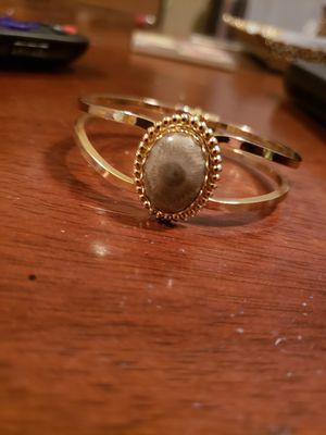 Gold tone petoskey stone bracelet for Sale in Traverse City, MI