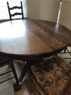 Oak claw foot dining table and 4 chairs for Sale in Pinole, CA