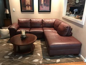 Leather Sectional Couch / Scandinavian Designs for Sale in Mountain View, CA