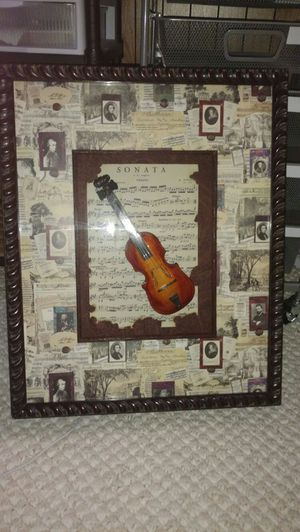 Beautiful framed shadow boxed violin picture frame for Sale in Newington, CT