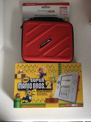 Nintendo 2ds Mario Bros 2 + Sonic the Hedgehog, 4 games and case for Sale in Silver Spring, MD