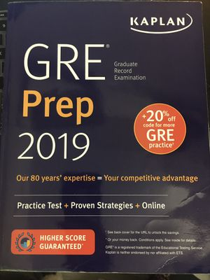 GRE Prep 2019 (Kaplan) for Sale in Chamblee, GA