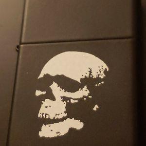 Zippo Matte Black w/ White Skull for Sale in Chicago, IL