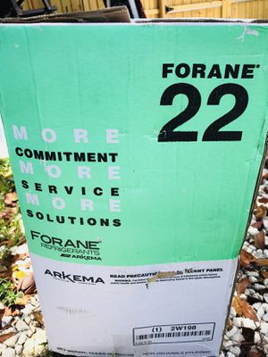 NEW R22 forane Refrigerant Freon new sealed virgin tank 30 pound for Sale in Delray Beach, FL