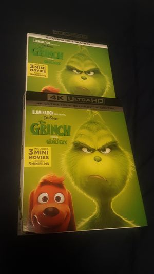 Dr. Seuss' The Grinch 4K ULTRA HD + Bluray +DIGITAL for Sale in Carmichael, CA