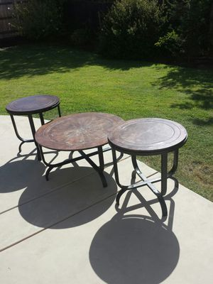 Round Coffee Table and 2 End Tables for Sale in Clovis, CA