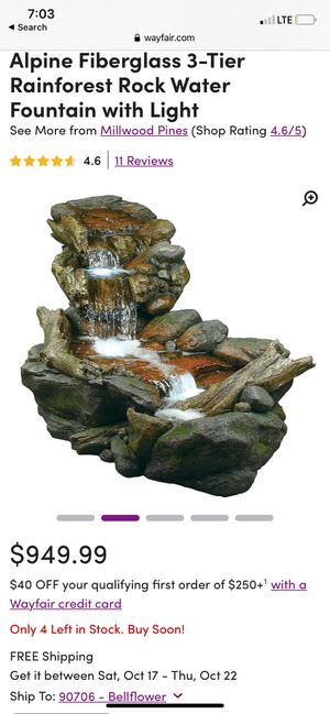 River style fountain with LED lights for Sale in Bell, CA