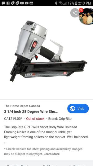 36 penny nail gun grip Rite for Sale in Oklahoma City, OK