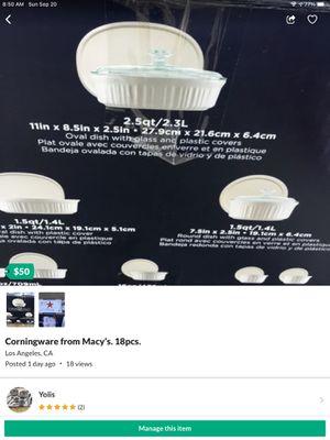 Corningware 18pc set for Sale in Los Angeles, CA