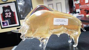 Gold Bull Sculpture, original Murano- Glass for Sale in Los Angeles, CA