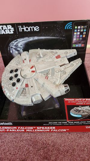Millennium falcon bluetooth speaker. Selling as a combo.$40. For bth.or $25each for Sale in Golden Valley, MN