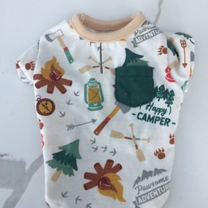 Happy Camper Print Dog Shirt XS With Pocket for Sale in Fort Lauderdale, FL