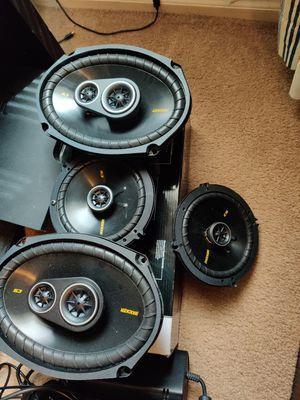 Kicker 6x9 3-way & 6.5in speakers for Sale in Phoenix, AZ