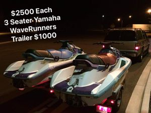 Matching Pair Yamaha Jet Skis with Trailer Both Run Perfect for Sale in Richland, WA
