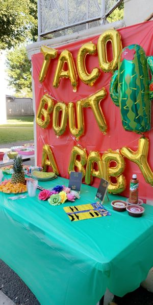 Balloon sign for fiesta theme baby shower or reveal + extras for Sale in Fullerton, CA