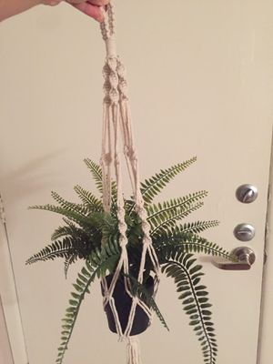 3 piece hanging macrame set (w/ or without fake plants) for Sale in Austin, TX