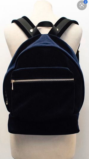 Sandro Womens Velvet Backpack Dark Navy with silver Hardware - excellent condition (retail value $225) for Sale in Issaquah, WA