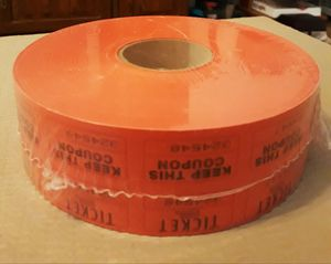 Brand new sealed large roll of raffle tickets I'm in fontana message only when ready to pick up for Sale in Fontana, CA